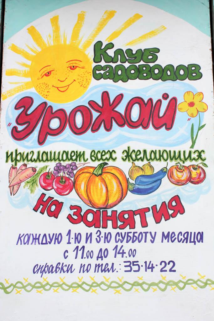 Лекторий в клубе садоводов «Урожай»