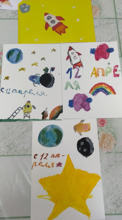 Мастер-класс на тему космоса от клуба «Мастерица»